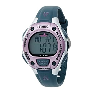 Timex Women's T5K020 Ironman Traditional 30-Lap Pink/Gray Resin Strap Watch