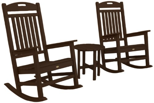 6 e7top cheap 2015 sale trex outdoor furniture by polywood 3 piece yacht club rocker set. Black Bedroom Furniture Sets. Home Design Ideas
