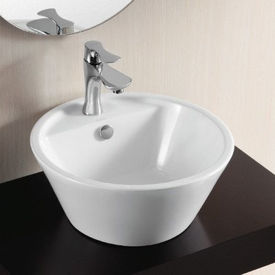 Caracalla Caracalla CA4141-One Hole-637509842673 Ceramica II Collection Bathroom Sink, White