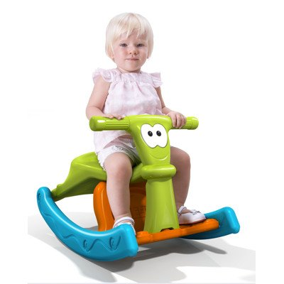 Ecr4Kids Plastic Rocking Seater Totter Play School 2 In 1 Combination Rocking Toy Chair For Kids / front-936843