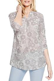 Linen Blend Floral Tunic [T41-220D -S]