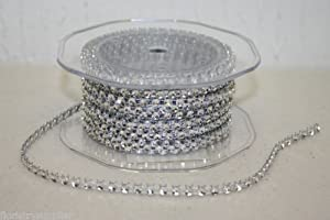 9m Full Roll Plastic silver Diamond String Diamante PROD298