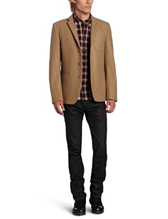 Ben Sherman Men's Plectrum Patch Pocket Blazer,  Brown Rock, Med