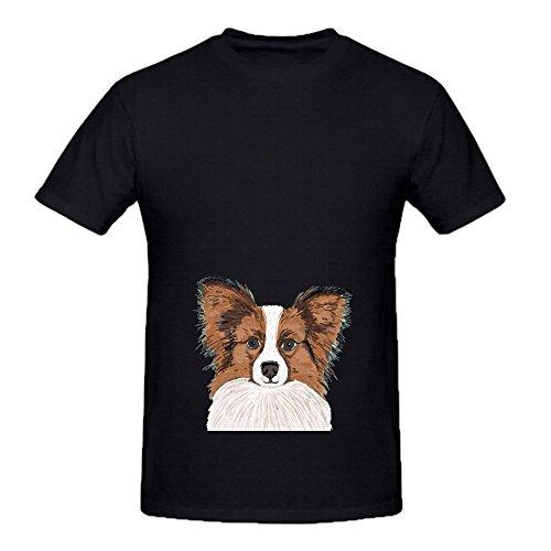 papillon-cute-dog-fluffy-puppy-men-o-neck-digital-printed-shirt-black