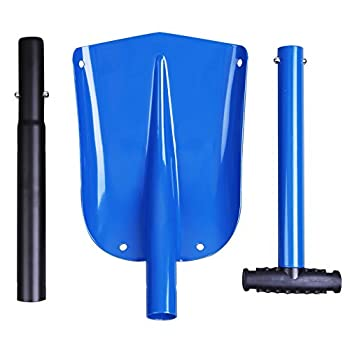 Cartman Portable Aluminum Sport Utility Shovel, Snow Shovel (Blue)