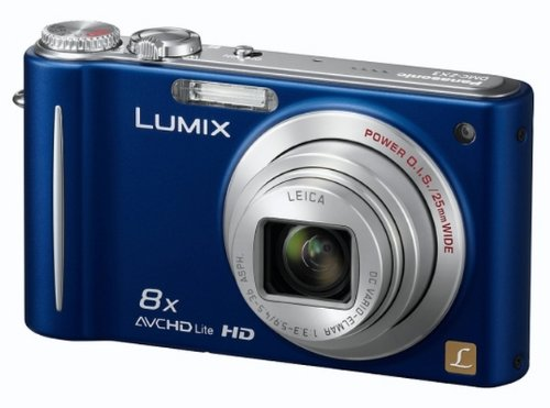 Panasonic Lumix ZX3 Digital Camera - Blue (14.1MP, 8x Optical Zoom) 2.7 inch LCD