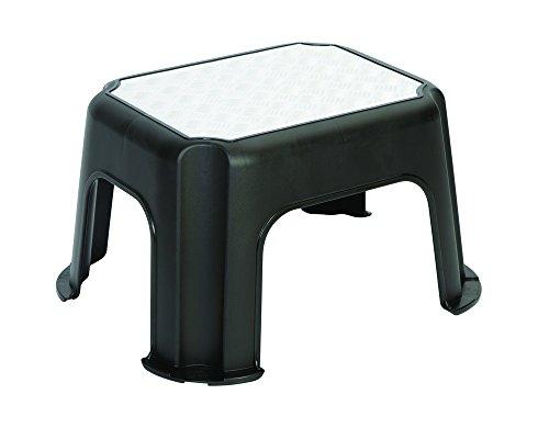 Rotho-Trittschemel-Paso-Tritthocker-aus-Kunststoff-mit-Metallveredelung-mit-Anti-Rutsch-Noppen-bis-150-kg-GS-geprft-schwarz-ca-43-x-36-x-24-cm-LxBxH
