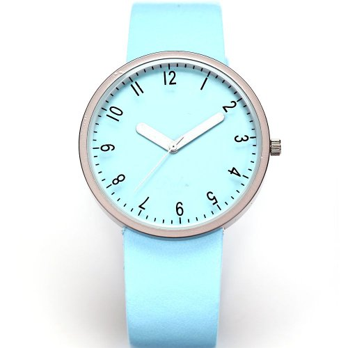 AMPM24 Fashion Women Lady Light Blue Dial Leather Sport Quartz Wrist Watch Gift
