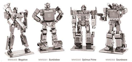 Metal Earth 3D Model Kits - Transformers Set of 4 - Optimus Prime, Bumblebee, Soundwave, Megatron