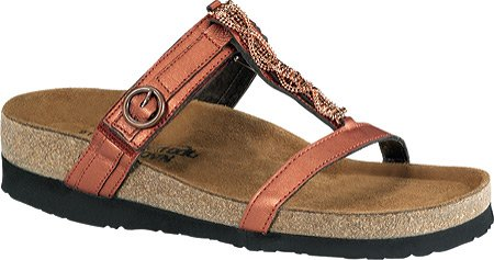 Naot Women's Malibu Sandals,Mandarin Leather,40 M EU