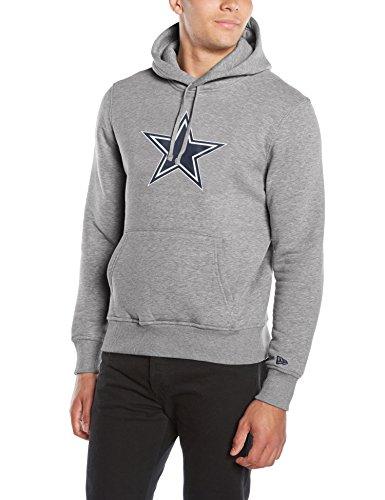 New Era Uomo Felpa con cappuccio Team Logo Hoody Dallas Cowboys, grigio - grigio, XL