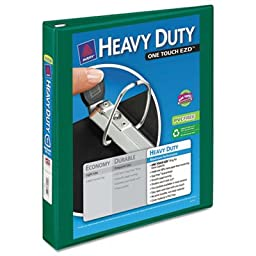 Heavy Duty Nonstick View Binder w/Locking 1 Touch EZD Rings, 1\