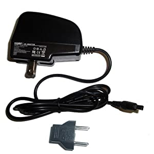 HQRP Wall AC Adapter compatible with Samsung SC-D364, SC-D365, SC-D366, SC-D371 Camcorder, Power Supply Cord + Euro Plug Adapter