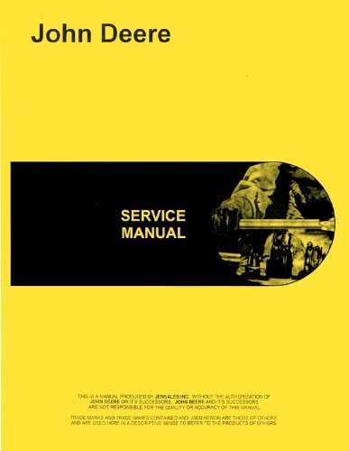 John Deere 70 Skid Steer Loader Service Manual