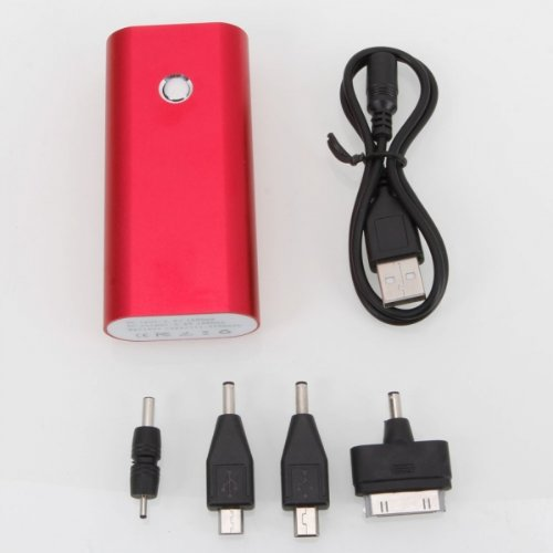 Marzey Big Red 5200Mah Flashlight Semicircular Mobile Power Bank Charger With Led Light For Sprint Samsung Galaxy Note Gt-N7000