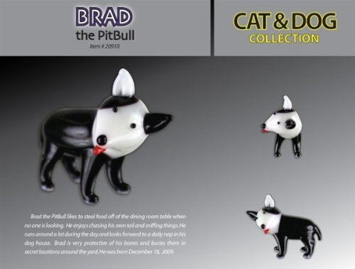 Looking Glass Brad The Pit Bull Toy Figure