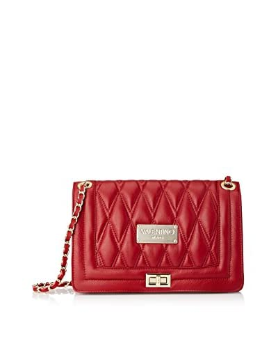 Valentino Bags by Mario Valentino Women's Alice D Quilted Shoulder Bag, Rubino