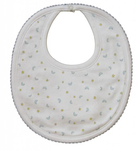 Kissy Kissy Baby Boys Homeward Bound Moon And Stars Print Bib-One Size