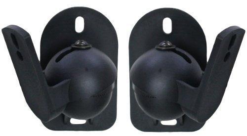 Halterung Lautsprecher Schwarz Universal Lautsprecher Wandhalterung 2 Stück Set