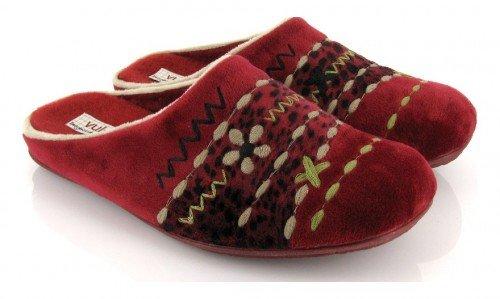 VUL-LADI, Pantofole donna Rosso Burdeos