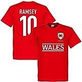 RE-TAKE(リテイク) ラムジー No.10 ウェールズ代表 2016 Team Tシャツ(レッド)