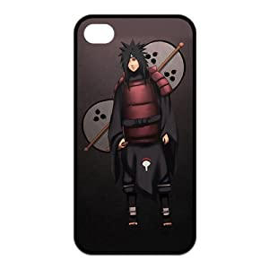 Naruto Uchiha Madara Cool with Fan Unique Apple Iphone 4 4S Durable Hard Plastic Case Cover CustomDIY