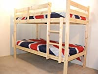 Adult Bunkbed - 3ft Single Bunk Bed - VERY STRONG BUNK! - Contract Use - has TWO centre rails for added support, heavy duty use