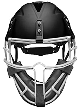 Worth SBPH Slowpitch Softball Adult Pitcher's Helmet with Face Guard (One Size Fits Most)