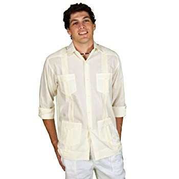 Long sleeve guayabera.