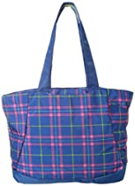 High Sierra Shelby Tote, Royal Cobalt Plaid/Blue, 16x14x5-Inch