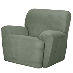 Maytex Mills 4-Piece Maggie Stretch Slipcover for Recliner, Blue