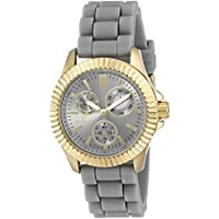 Invicta 'Angel' Stainless Steel Casual Womens Quartz Watch (Grey)