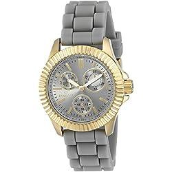 Invicta 'Angel' Stainless Steel Casual Womens Quartz Watch - Grey