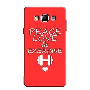 PEACE-LOVE BACK COVER FOR SAMSUNG E5