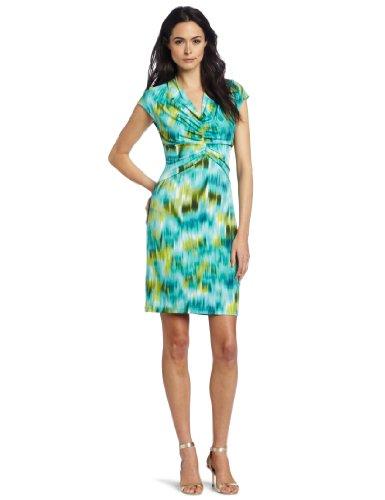 Kenneth Cole New York Women's Watercolor Ikat Print Dress