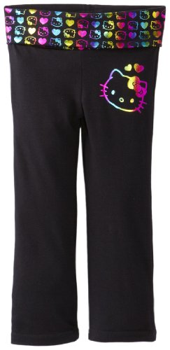 Hello Kitty Little Girls' On Yoga Pant, Anthracite, 2T front-435460