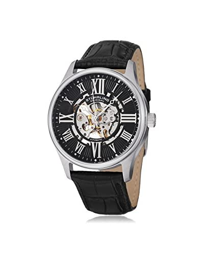 Stuhrling Original Men's 747.02 Atrium Automatic Black Leather Watch