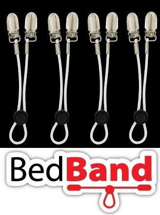 ORIGINAL Bed Band Sheet Holder.Top Seller-Amazon USA with 438 reviews. Adjustable Sheet Fastener/Holder/Strap/Suspender/Gripper