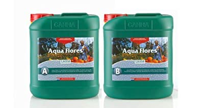 Canna AQUA Flores A+B (Flower) - 5L Set by Canna