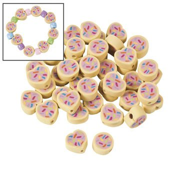 Heart Cookie Beads - 12mm
