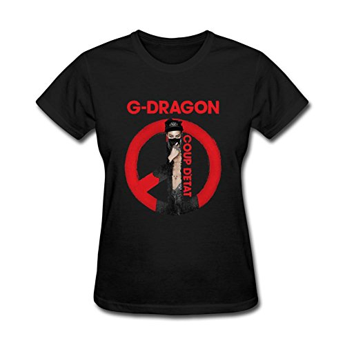 JuDian G-Dragon Solo Coup Detat Logo T shirt For Women (Good Boy G Dragon Shirt compare prices)