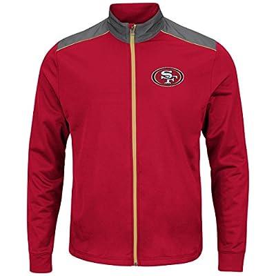 "San Francisco 49ers Majestic NFL ""Team Tech"" Men's Full Zip Jacket Sweatshirt"