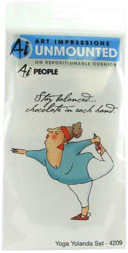 "Art Impressions 4209 Ai People Series ""Yoga Yolanda Set"" Rubber Stamp"