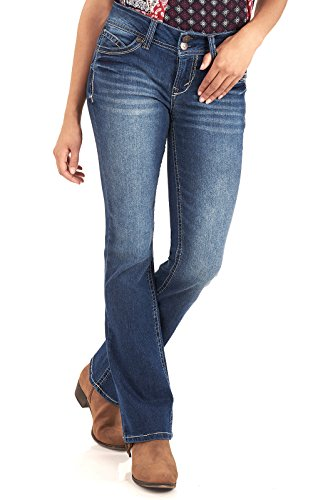 WallFlower Juniors Luscious Curvy Basic Bootcut Jeans in Addison Size:9