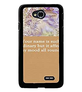 PrintDhaba Quote D-3718 Back Case Cover for LG L70 (Multi-Coloured)