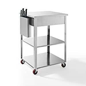 Crosley Culinary Prep Kitchen Cart Stainless
