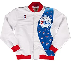 Philadelphia 76ers Mitchell & Ness NBA Authentic 93-94 Warmup Premium Jacket by Mitchell & Ness