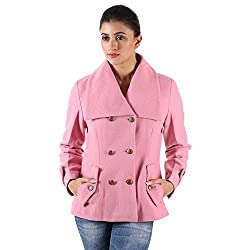 Owncraft Women's Pink Double Breasted Wool Jacket 1