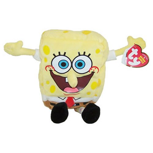 TY Beanie Baby - SPONGEBOB SQUAREPANTS (Screen Printed Face - Best Day Ever) (8.5 inch)