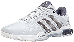 adidas Performance Men\'s Barricade Team 4 Tennis Shoe, Clear Grey/Silver/Midnight Grey, 10 M US